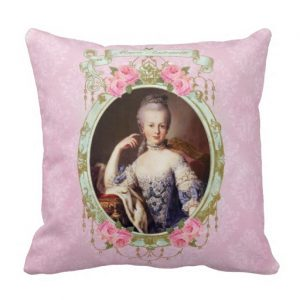 maria-antonia-portrait-pink-damask-pillow